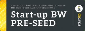 Startup BW Pre-Seed diagonal, dunkel